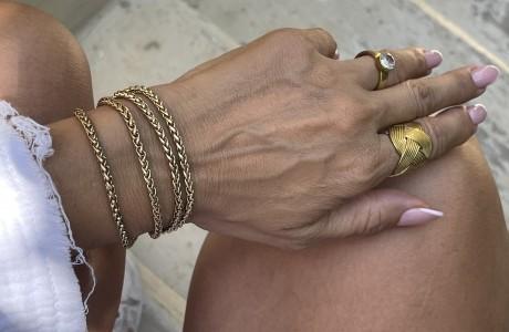 צמיד שכבות זהב בהיר