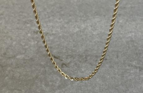 שרשרת מלופפת בציפוי זהב בהיר