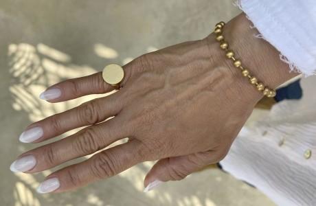 טבעת חותם עגולה בפליז