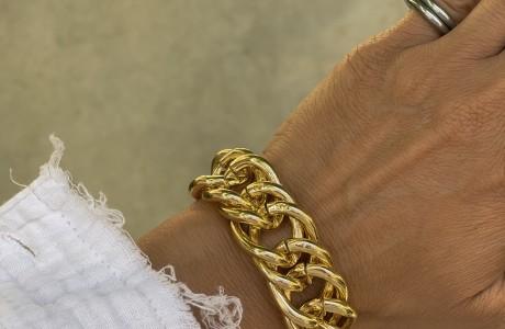 צמיד גורמט זהב כפול ענק אלומיניום