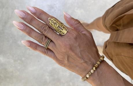 צמיד אבני היולייט טבעי