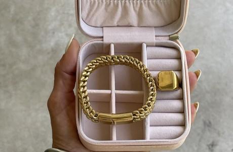 תיק תכשיטים גורמט כפול וטבעת חותם