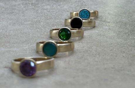 טבעת בראס עם אבן לבחירתך