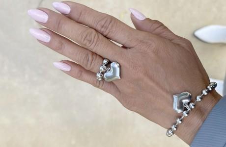 טבעת דיסקית עם אהבה