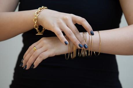 צמידי חישוק זהב מאיה אהרוני צמידים
