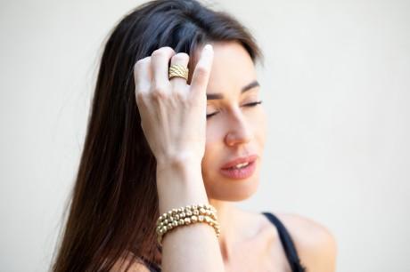 צמידי זהב נמתחים מאיה אהרוני