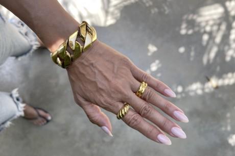 צמיד גורמט ענק , צמיד גורמט מגושם , צמיד גורמט זהב , צמיד גורמט גדול , צמידים , מאיה אהרוני תכשיטים