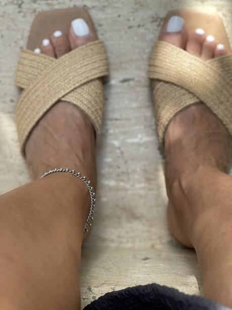 צמיד רגל כסף ,צמיד עמיד במים ,  מאיה אהרוני תכשיטים