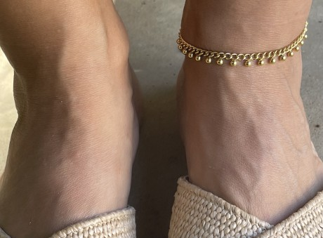 צמיד רגל ציפוי זהב , מאיה אהרוני תכשיטים