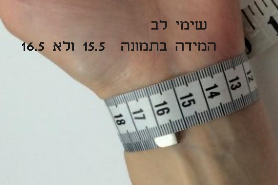 מידת כף היד מאיה אהרוני