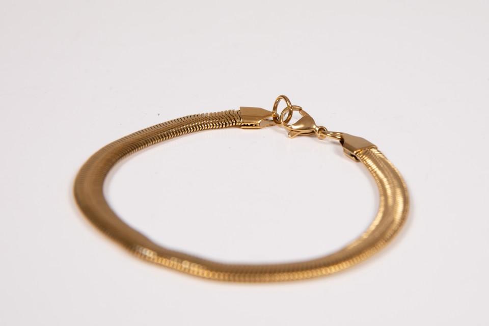 צמיד זהב נחש עדין