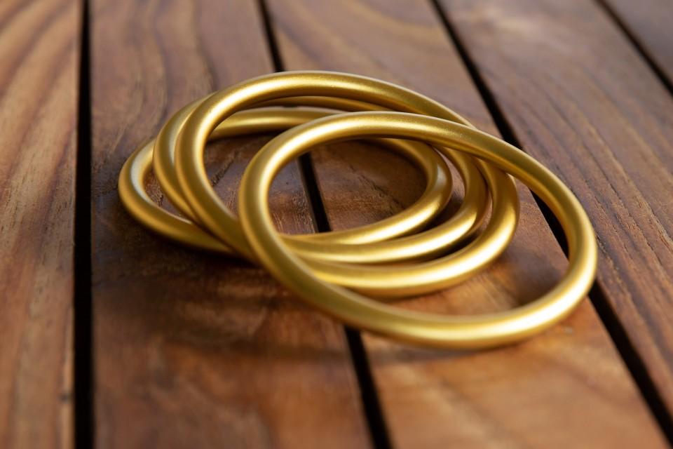צמידים זהב מט מאיה אהרוני