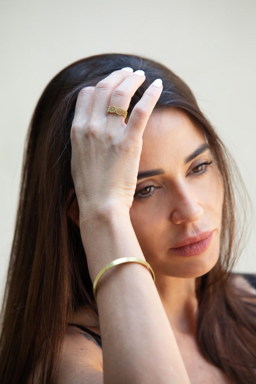 טבעת בעבודת יד לאישה