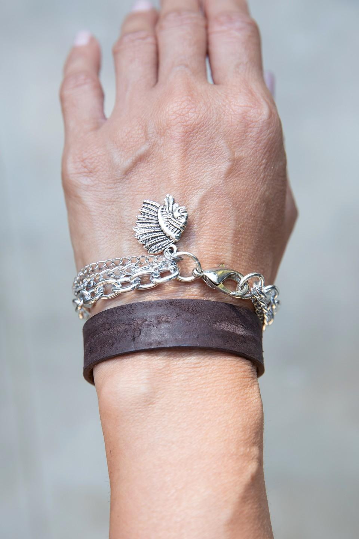 צמיד שכבות אינדיאני stainless steel מאיה אהרוני