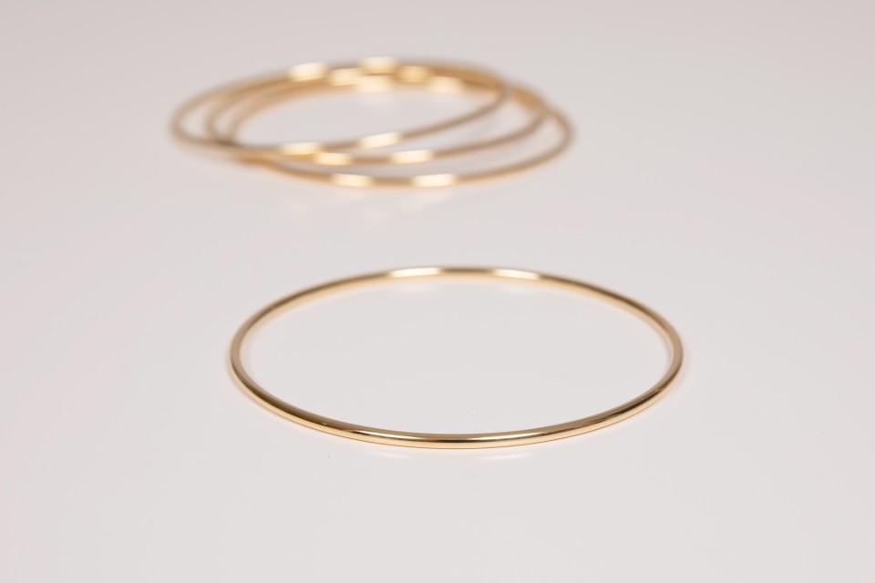 צמידי חישוק זהב מאיה אהרוני תכשיטים